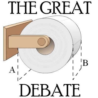 Как вешать туалетную бумагу?